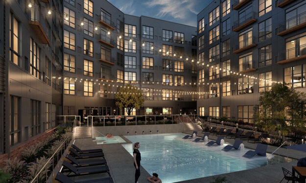 Pool Area Render View Of Anova Ucity Square