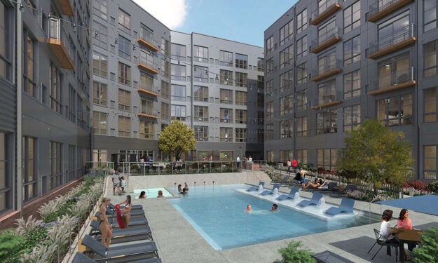 Daytime pool render View Of Anova Ucity Square