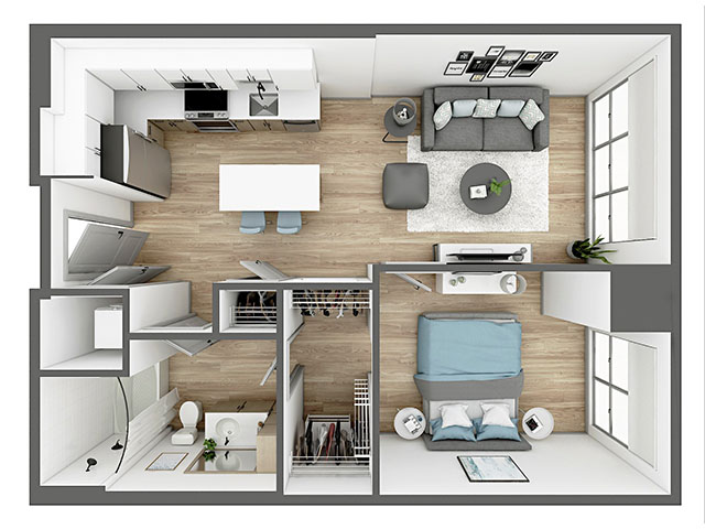 A8 Floor plan layout