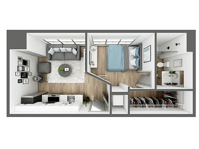 A4 Floor plan layout